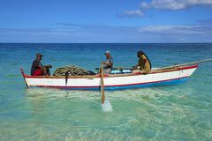 Fishermen in Grenada, Caribbean Royalty Free Stock Photos