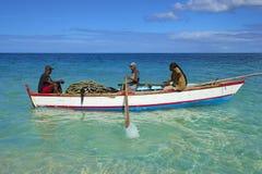 Fishermen in Grenada, Caribbean. Fishermen in a boat in Grenada Royalty Free Stock Photos