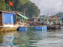 Fishermen in Ha Long Bay, Vietnam Stock Photography