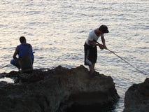 Fishermen in Havana 2 Stock Photos