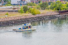Fishermen Heading Out Stock Photography