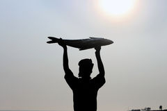 Fishermen holding a big fish. royalty free stock image