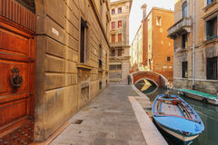 Fishermen houses in venice Stock Image