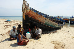 Fishermen in India Stock Photo