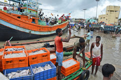 Fishermen In India Royalty Free Stock Photos