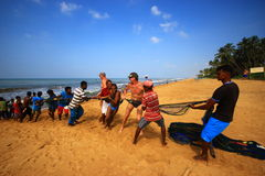 Fishermen on the Indian ocean Royalty Free Stock Image