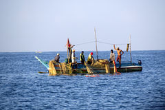 Fishermen at the Indian ocean Stock Photo