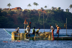 Fishermen at the Indian ocean Stock Photos