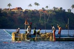 Fishermen at the Indian ocean Stock Photos