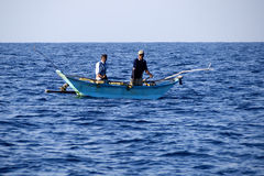Fishermen at the Indian ocean Royalty Free Stock Photo