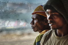 Fishermen from Indonesia. Royalty Free Stock Photography