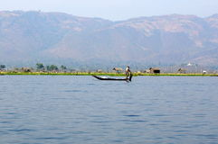 Fishermen on Inle Lake in Myanmar (burma) Stock Photography
