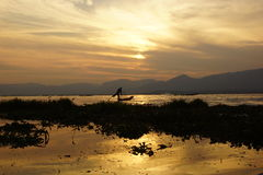 Fishermen on Inle Lake in Myanmar (burma) Stock Photo