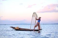 Fishermen at Inle Lake Stock Photo