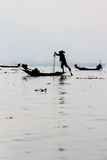 Fishermen on Inle Lake, Myanmar Stock Images