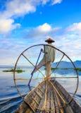 Fishermen in Inle Lake, Shan State, Myanmar Stock Photography