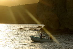 Fishermen in Isleta del Moro Stock Photography
