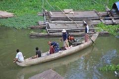 Fishermen in Kampong Cham Stock Photography