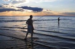 fishermen on lake Baikal royalty free stock photo