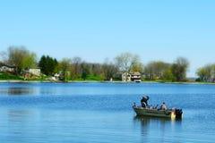 Fishermen on Lake Royalty Free Stock Photos
