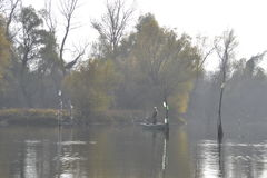 Fishermen in the lake Stock Image