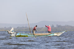 Fishermen at Lake Naivasha, Kenya, editorial Stock Photography