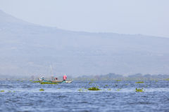 Fishermen at Lake Naivasha, Kenya, editorial Royalty Free Stock Photography
