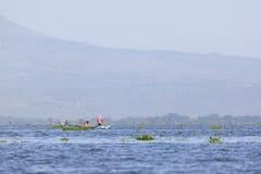 Fishermen at Lake Naivasha, Kenya, editorial Royalty Free Stock Photography