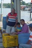 fishermen in Latin America royalty free stock photo