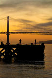 Fishermen in Lisbon Stock Photography