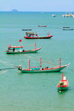 Fishermen living in the sea. Stock Images