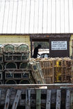 Getting the Lobster traps ready Stock Images