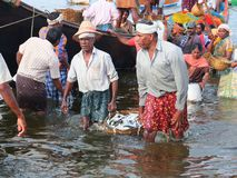Fishermen, Marari Beach, Kerala India Stock Photography