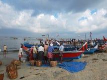 Fishermen, Marari Beach, Kerala India Stock Image
