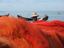 Fishermen, Marari Beach, Kerala India Stock Photo