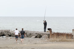 Fishermen at Mariupol Royalty Free Stock Photography