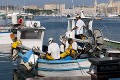 Fishermen in Marseille Royalty Free Stock Image