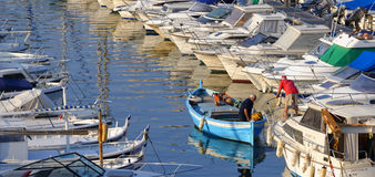 Fishermen in Marseilles Royalty Free Stock Photos