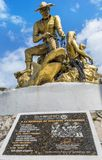 Fishermen memorial statue on Isla Mujeres,Mexico Royalty Free Stock Image
