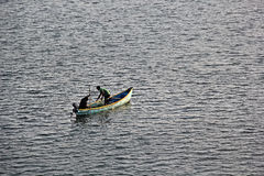 Fishermen in Mondovi River Royalty Free Stock Photography