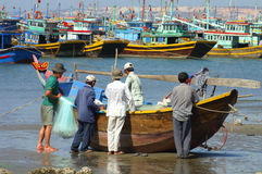 Fishermen, Mui Ne, Vietnam Stock Images