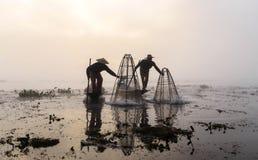 Fishermen, Myanmar Stock Photos