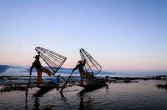 Fishermen, Myanmar Royalty Free Stock Photo