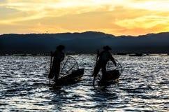 Fishermen, Myanmar Stock Image