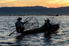 Fishermen, Myanmar Royalty Free Stock Photos