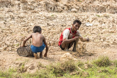 Fishermen near Siem Reap Stock Photos