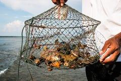 Fishermen and net Stock Image