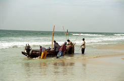 Fishermen, Nouakchott, Mauritania Stock Photos