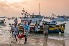 Fishermen from Pamban Royalty Free Stock Photos