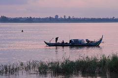 Fishermen In Phnom Penh Stock Photo